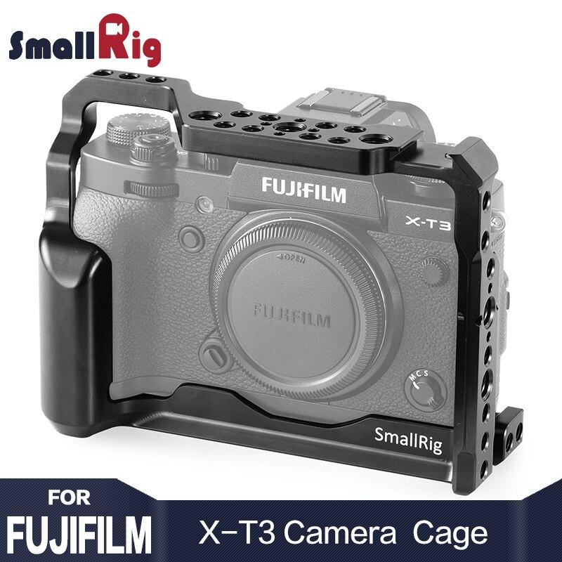 SmallRig Gaiola Câmera DSLR para Câmera Fujifilm X-T3 X T3 e X-T2 característica com a Nato Ferroviário Aperto do Punho Frete Grátis 2228