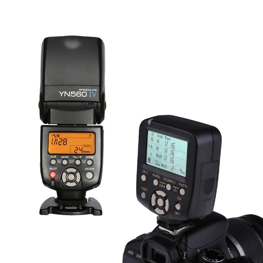 YN-560IV Blitz Yongnuo Speedlite Optique Esclave Flash + YN560-TX LCD Flash Déclencheur À Distance Contrôleur Manuel De Commande De Puissance