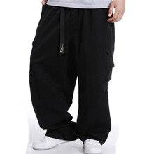 Большие размеры, мужские брюки-карго в стиле хип-хоп, хлопковые Свободные мешковатые армейские брюки, широкие брюки, военные тактические штаны, Повседневная Уличная одежда, джоггеры