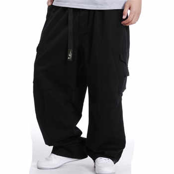 Big Size Men Hip Hop Cargo Pants Cotton Loose Baggy Army Trousers Wide Leg Military Tactical Pants Casual Streetwear Joggers - DISCOUNT ITEM  47% OFF All Category