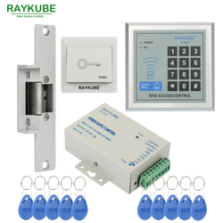 RAYKUBE عرض خاص التحكم في الوصول كيت الكهربائية سترايك قفل + كلمة المرور لوحة المفاتيح RFID قارئ كاونتر سترايك
