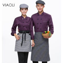 Chef's Short-sleeved Breathable  Summer Wear Work Clothes Men and Women Overalls Hotel Kitchen Chef Black Uniform Send aprons023