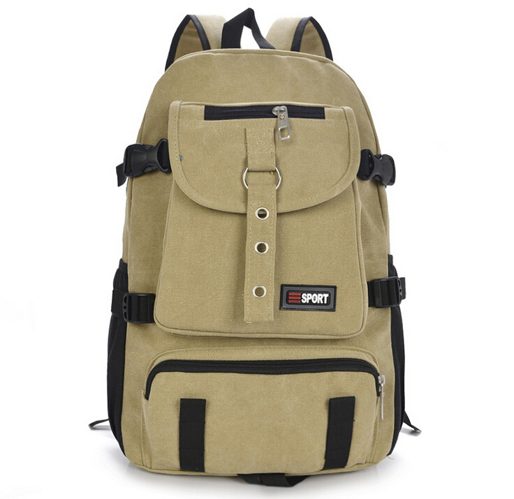 X-Online New Hot Good Quality Unisex Woman Man Canvas Backpack School Bag  Travel Bags
