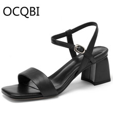 Womens Low Chunky Heel Concise Sandal Shoes Summer Single Strap Sandals Casual Shoes White Brown Blue soda womens sodium h sandal