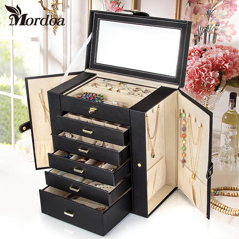Mordoa Jewelry Display Watch Box Jewelry Necklace font b Earrings b font Rings Pendant High end