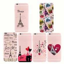 Fashion Paris Eiffel Tower Pattern soft silicon case cover Capinha Coque For iPhone5S SE 6 6S 7 8 plus  X Max XR XS eiffel tower pattern plastic back case for samsung i9500 light green