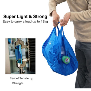 Image 5 - Ultralight Folding Handbag Packable Shopping Travel Hand Carry Bag  Vacuum Bags For Clothes For Men Women