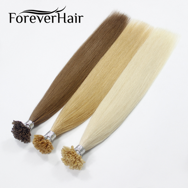Forever Hair 08gs 16 18 20 Remy Nail Tip Human Hair Extension