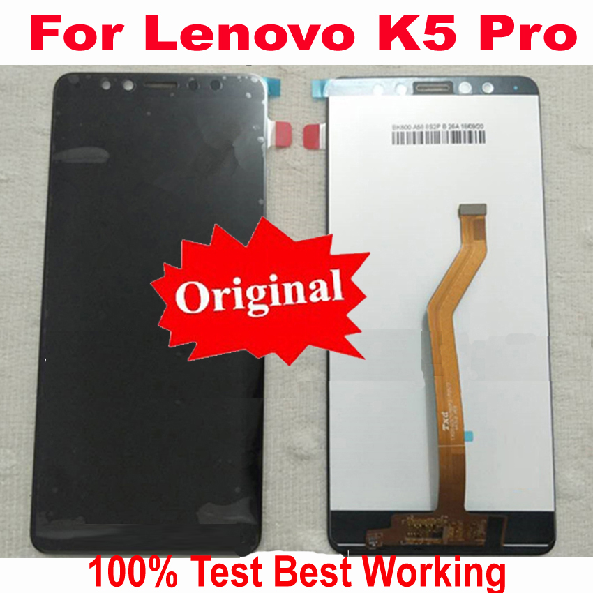 Original Best Working Sensor LCD Display Touch Screen Digitizer Assembly For Lenovo K5 Pro L38041 5.99 Mobile Phone Panel Parts