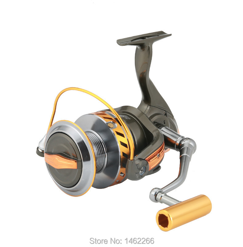 WOEN 10000 type Full metal wire cup Anchor reel 12+1BB Boat fishing Spinning wheel reel CNC rocker arm-in Fishing Reels from Sports & Entertainment