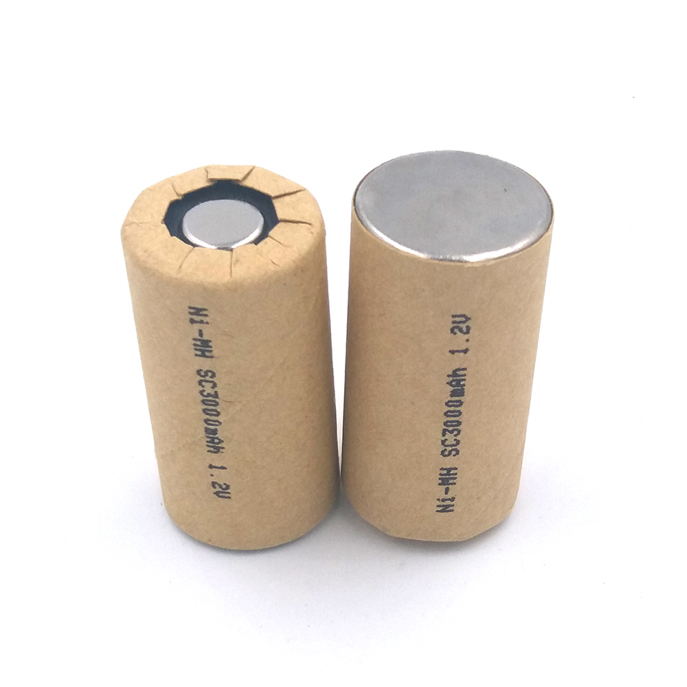Ni-Mh SC3000mAh 4pcs SC3.0Ah Nimh Power Cell rechargeable battery cell,power tool battery cell,discharge rate 10C-15C