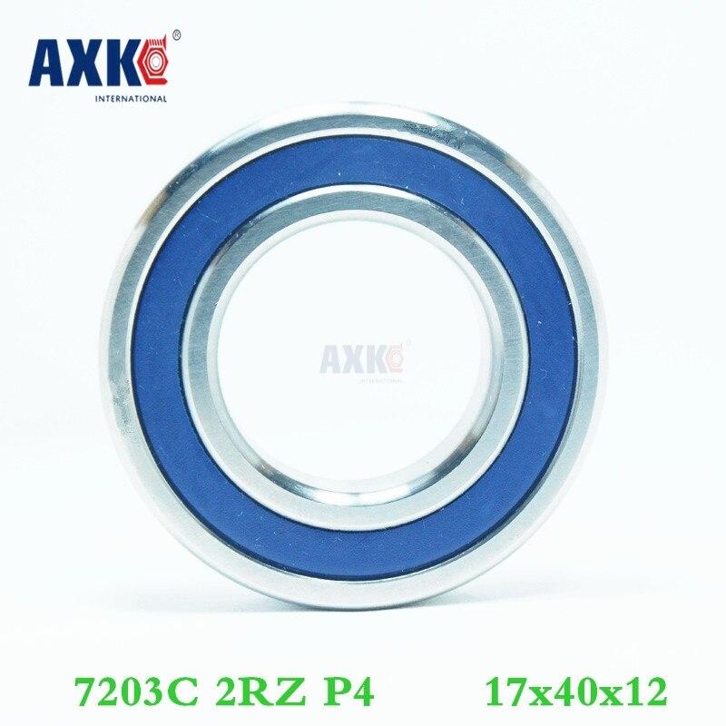Axk 1pcs 7203 7203c 2rz P4 17x40x12 Sealed Angular Contact Bearings Speed Spindle Bearings Cnc Abec-7 1pcs 71822 71822cd p4 7822 110x140x16 mochu thin walled miniature angular contact bearings speed spindle bearings cnc abec 7
