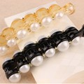 Elegant Design Orange & Black Beautiful Simulated Pearls Hairpins Hair Jewelry Banana Hair Clips Accessories for Women