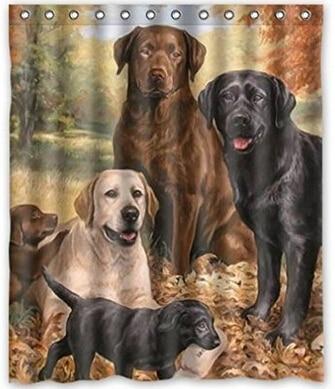 Nice Lovely Labrador Retriever Dog Art,cute Dogs Polyester Fabric Custom Home  Decor Shower Curtain 60x
