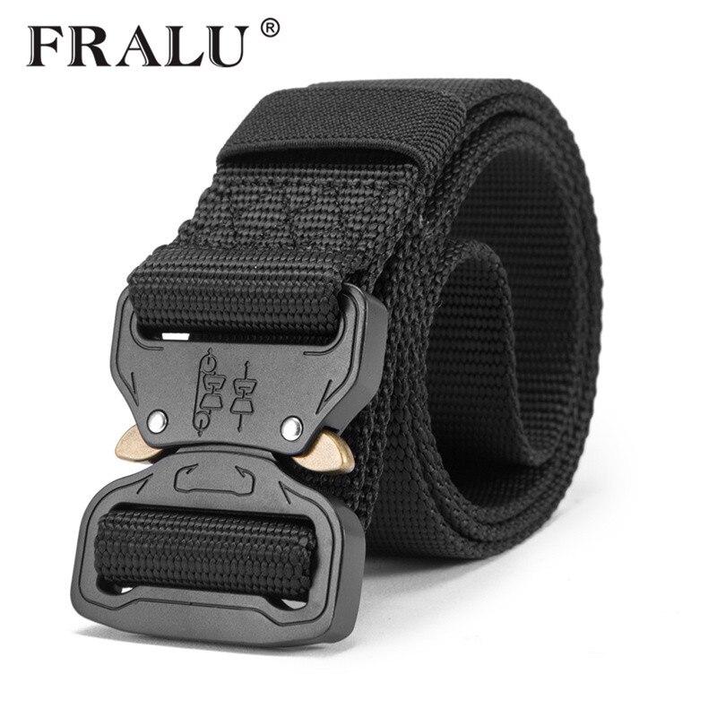 Nuevo cinturón de nailon para hombres, cinturón táctico del ejército, cinturones militares de combate SWAT, cinturón táctico de supervivencia de emergencia, equipo táctico Dropship