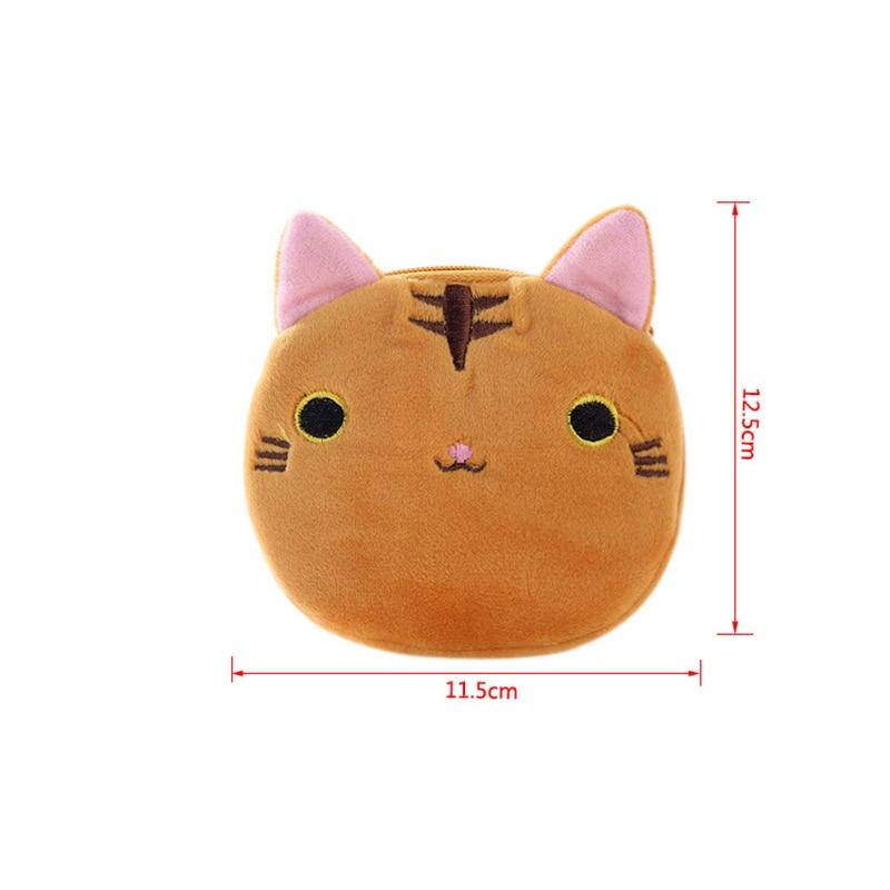 Маленькая Monedero детская сумочка для девочек на молнии, кавайный кошелек, мультяшное портмоне «кошка», карман для детей, плюшевый Кошелек для монет для девочек W053