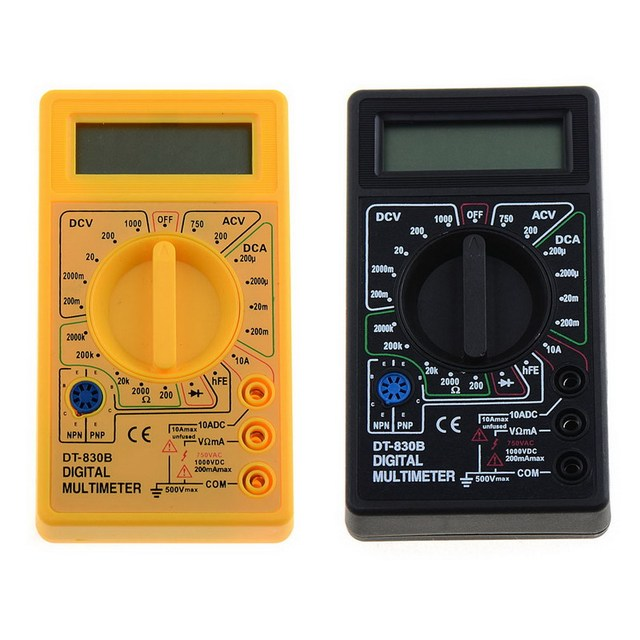 1 PC Black Yellow Universal Digital Multimeter AC/DC Ammeter Voltmeter Ohm Electrical Tester DT-830B VEH57 P30