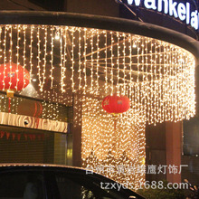 LED waterfall lamp outdoor decorative lighting celebration of the new lights waterproof 1*10 meters background light