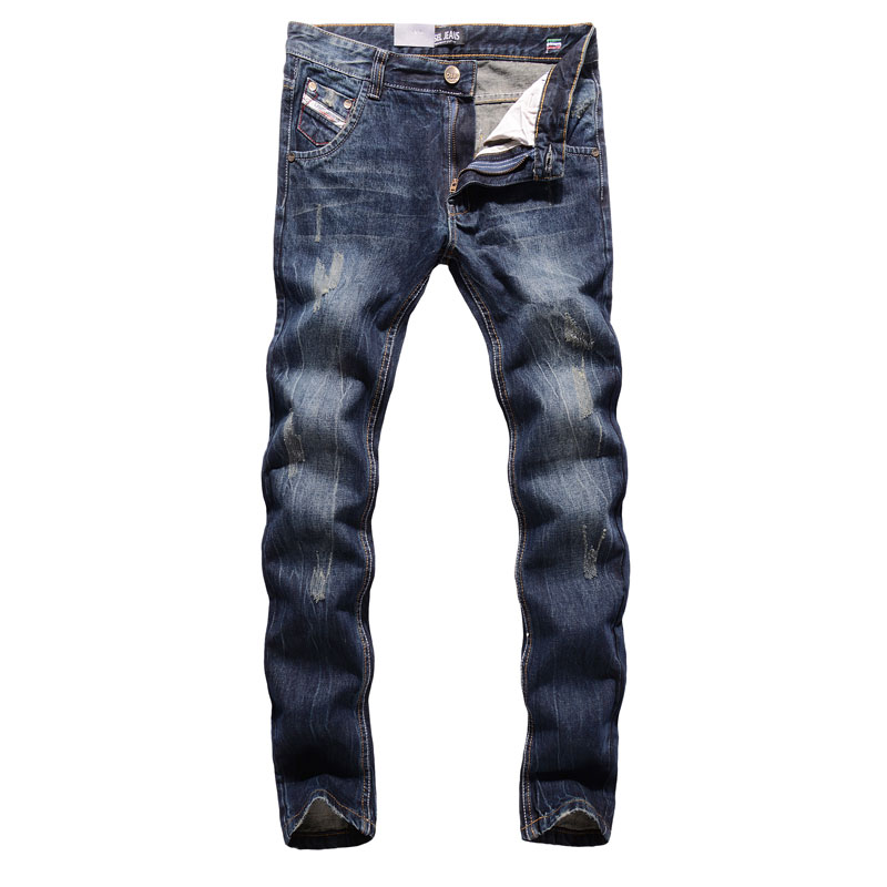 Original High Quality Dsel Brand Men Jeans Straight Fit Distressed Ripped Jeans For Men Dsel Brand Jeans Home,Size 29-40 988-C 2017 new original high quality dsel brand men jeans straight fit distressed ripped jeans for men dsel brand jeans home 604 a