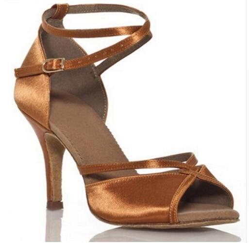 Latin Dance font b Shoes b font Women Ballroom font b Shoes b font Woman Satin