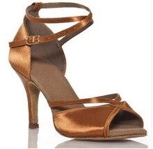 Latin Dance Shoes Women Ballroom Shoes Woman Satin Tango Salsa Latin Dance Shoes
