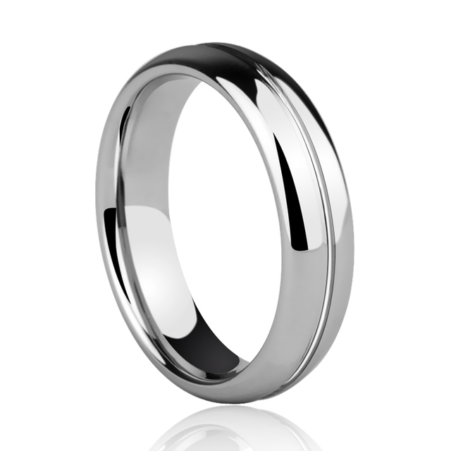 High Quality Unisex Dome Band 3 5mm 5mm Width Tungsten Wedding Rings