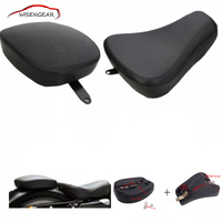 1 Set Front Driver Solo Seat Rear Passenger Pad For Harley Davidson Sportster XL 883 1200