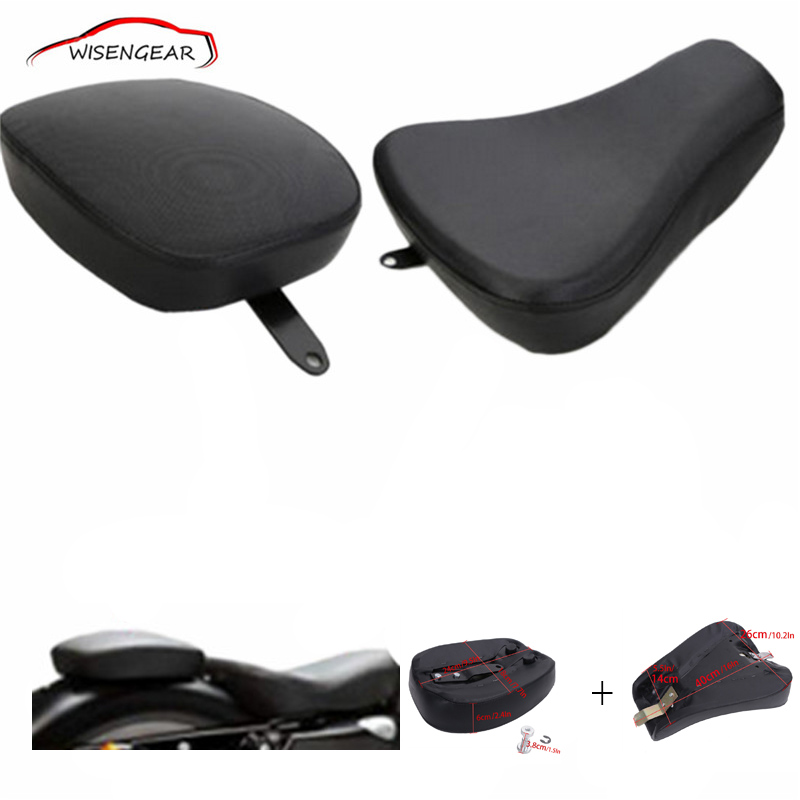 1 Set Front Driver Solo Seat + Rear Passenger Pad For Harley Davidson Sportster XL 883 1200 72 48 C/5 mtsooning timing cover and 1 derby cover for harley davidson xlh 883 sportster 1986 2004 xl 883 sportster custom 1998 2008 883l