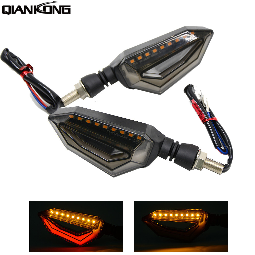 Universal Motorcycle 12 LED Turn Signal Lights Blinker Front Rear Lights For YAMAHA FZ1 FZ4 FZ6 FZ6R KTM Duke125 200 390 390 RC8