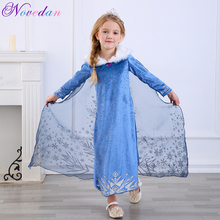 Princess Elsa Dresses Fancy Halloween Carnival Cosplay Anna Costume Cinderella Christmas Kids Dresses For Girls Aurora Dress high quality fancy princess elsa costume cosplay dress christmas for girls clothing baby role play halloween dresses with crown