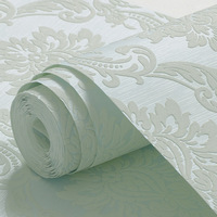 Home Decoration Of Wall Paper Non Woven Wallpaper Roll Damask Contact Paper Embossed Wallpaper Roll For
