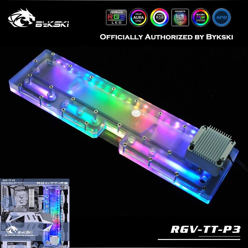 Bykski RGV-TT-P3 placas de água fluvial para tt core p3 caso kit controlador do radiador defletor de refrigeração de água