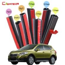Cawanerl Car Rubber Sealing Strip Kit Seal Edge Weatherstrip Noise Insulation Self-Adhesive For Suzuki XL7 S-Cross SX4 Vitara
