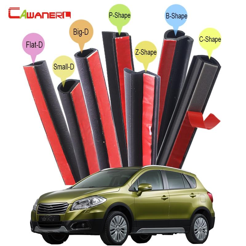 Cawanerl Car Rubber Sealing Strip Kit Seal Edge Weatherstrip Noise Insulation Self-Adhesive For Suzuki XL7 S-Cross SX4 Vitara цена