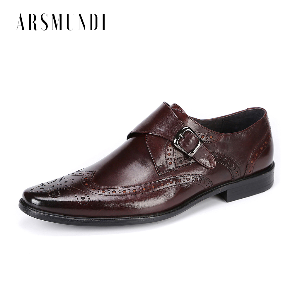 Men Genuine Leather Gentleman Dress Shoes Oxfords Derby Cowhide Leather Metal Buckle Round Toe Wedding Business Shoes 2018Men Genuine Leather Gentleman Dress Shoes Oxfords Derby Cowhide Leather Metal Buckle Round Toe Wedding Business Shoes 2018