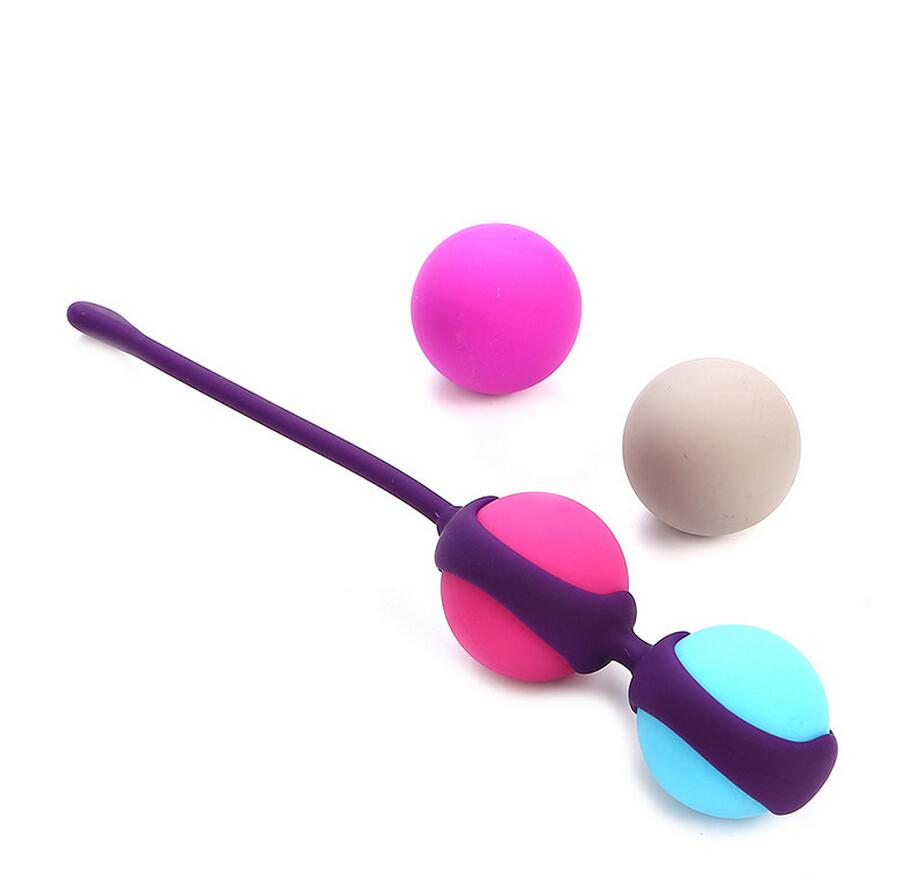 100% Medical Silicone Vibrator Kegel Balls Vibrator Bolas Vaginal Globules Tighten Aid Love Geisha Ball Ben Wa for Woman Member