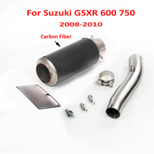 GSXR 600 750 K8 K9 K10 Motorcycle Exhaust System Muffler Tail Escape Pipe Link Tube for Suzuki 2008-2010