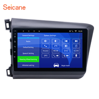 Seicane 10.1 inch Android 6.0 2DIN Car Radio GPS System for 2012 Honda Civic with Bluetooth WIFI Mirror Link 4 core 1024*600