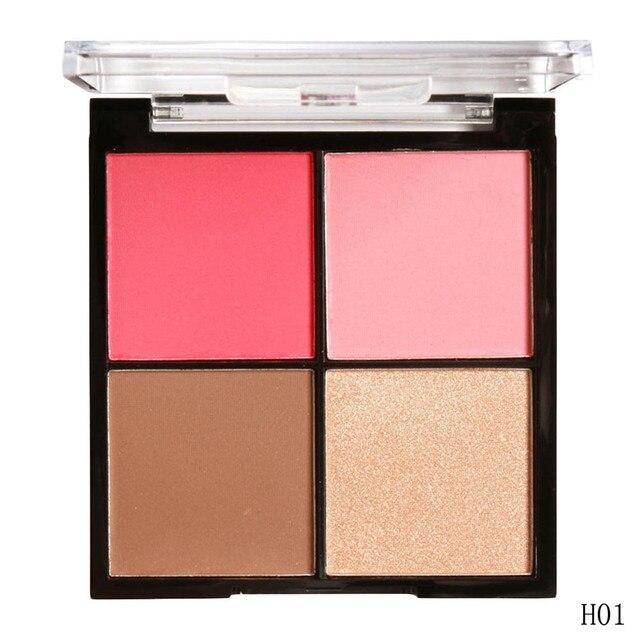 MARIA AYORA Brand Professional Blusher Palette Face Cosmetics Shimmer and Matte Contour Palette Powder Highlighter Blush Makeup