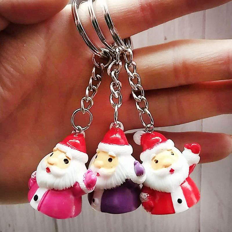 Low Price Christmas Decorations: Mini Cute Santa Keychain 2019 Christmas Ornaments Fashion