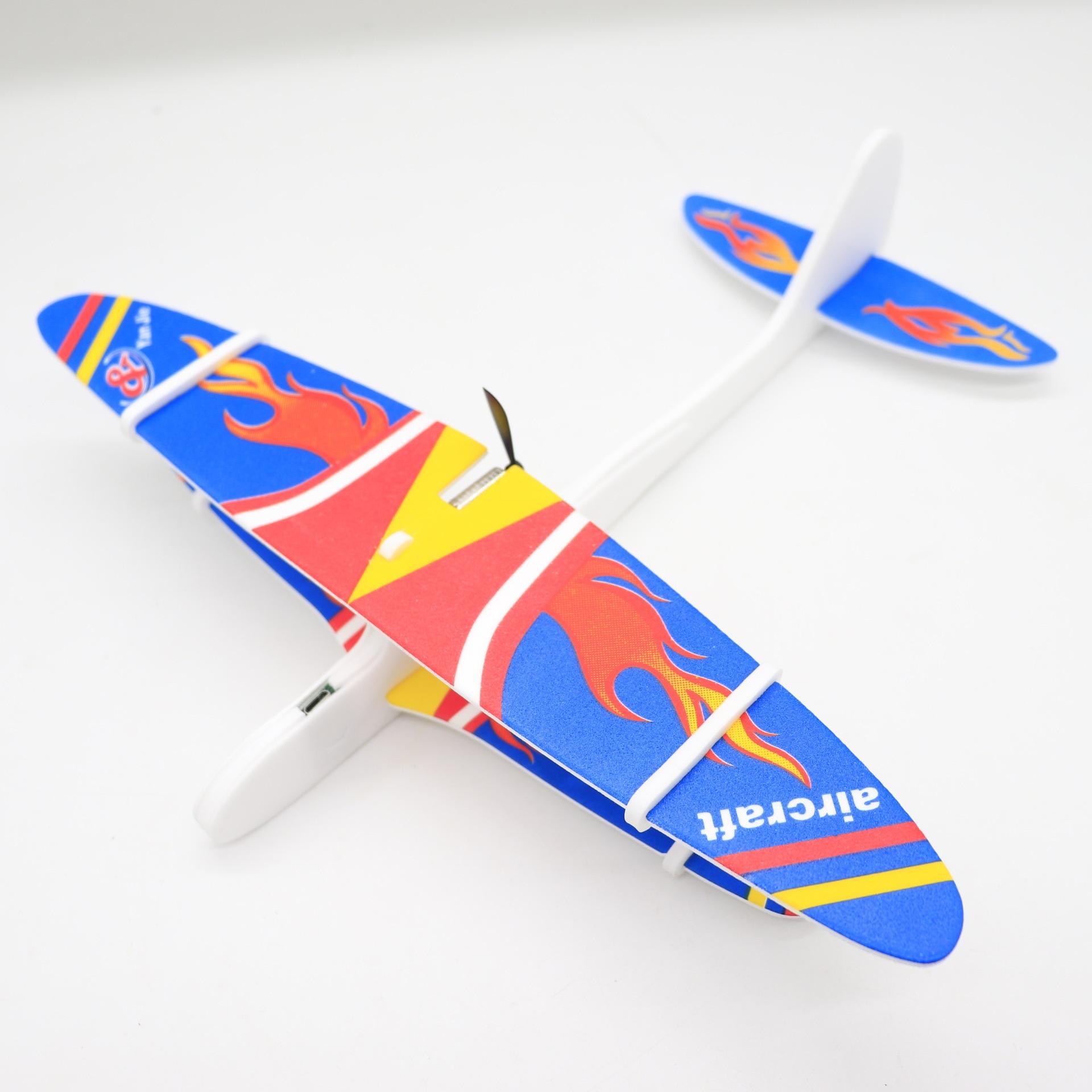 DIY Hand Throw Flying USB Electric Power Motor Glider Planes Foam ...