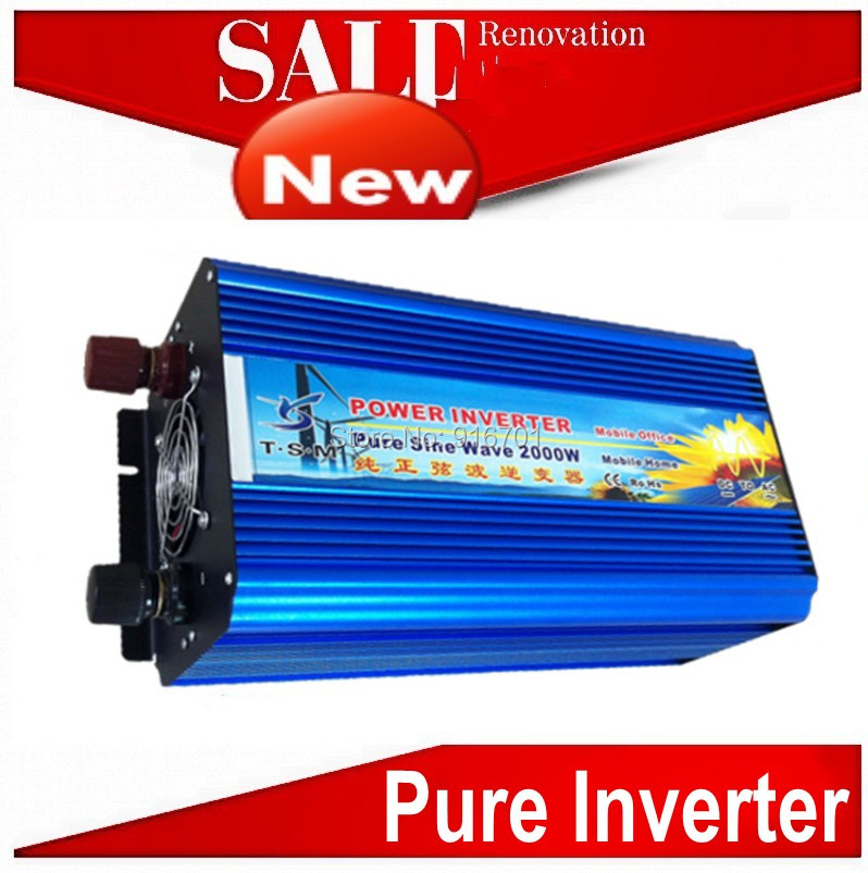 12 Volt / 24Volt DC to 120 Volt / 220 Volt AC Wind/Solar Power Converter 2000W, Pure Sine Wave Inverter маяк findme f2 volt