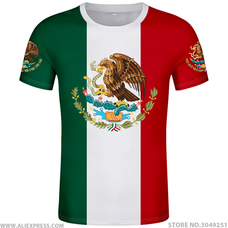 THE UNITED STATES OF MEXICO t shirt logo free custom name number mex t-shirt nation flag mx spanish mexican print photo clothing(China)