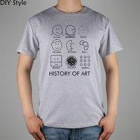 Picasso, Monet, Da Vinci Art Histoire T-shirt en coton Lycra haut 11073 Mode Marque de t-shirt des hommes nouveau Style DIY haute qualité