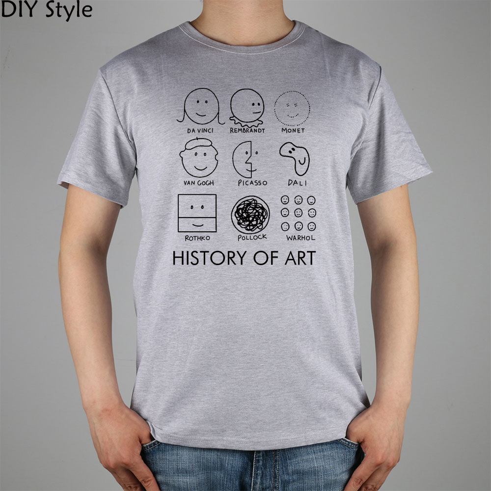 Picasso, Monet, Da Vinci Art History T-shirt cotton Lycra ...