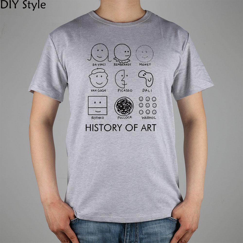 Picasso monet da vinci art history t shirt cotton lycra for Which t shirt brand is the best