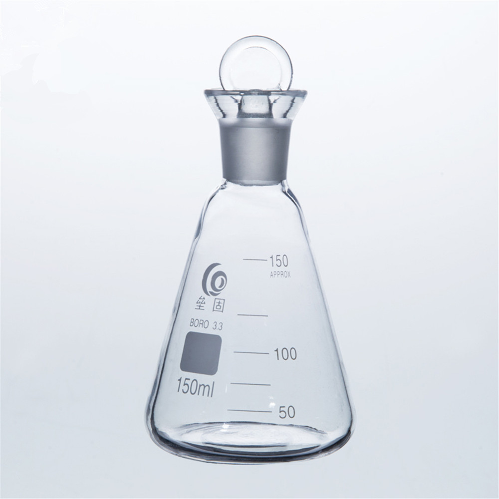150ml Iodin Determination Flask  Grinding Mouth  Conical flask For Chemistry Laboratory купить