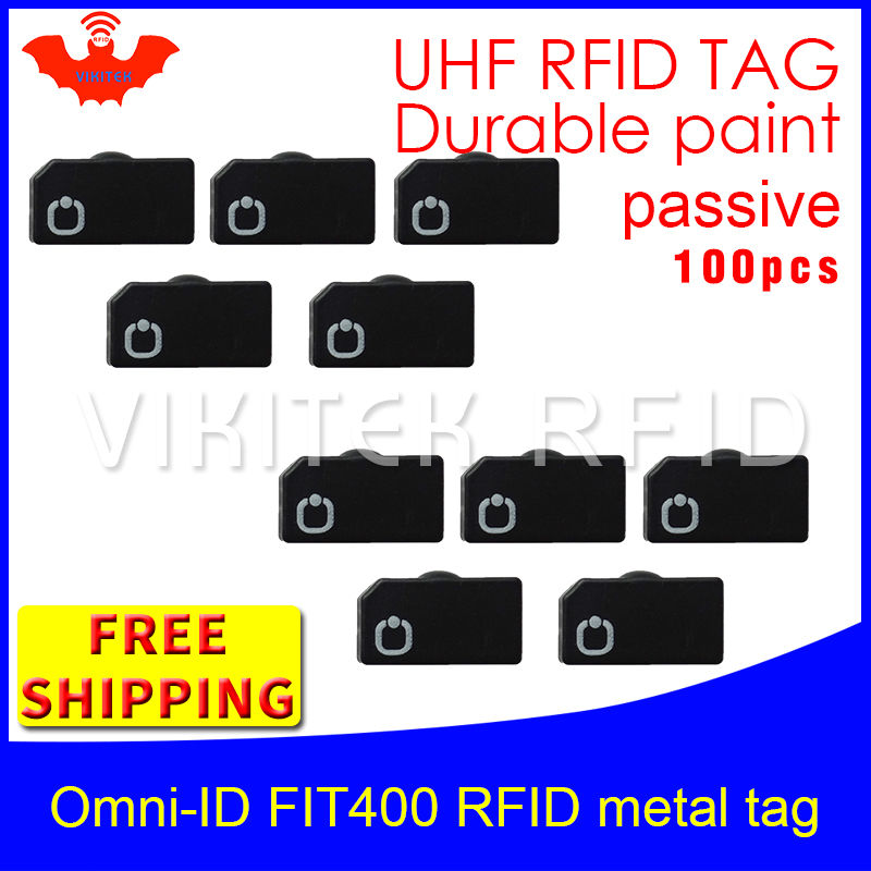 UHF RFID metal tag omni-ID Fit400 915m 868mhz Alien Higgs3 EPC 100pcs free shipping durable paint smart card passive RFID tags 2016 trays management anti metal epc gen2 alien h3 uhf rfid tag 50pcs lot