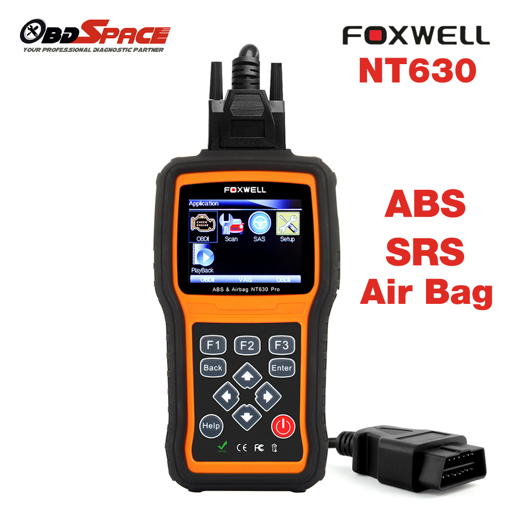 Prix pour Automobile outil De Diagnostic De Voiture Scanner Diagnostic OBD2 Airbag ABS SAS SRS Moteur Lecteur de Code airbag Accident FOXWELL NT630 Pro