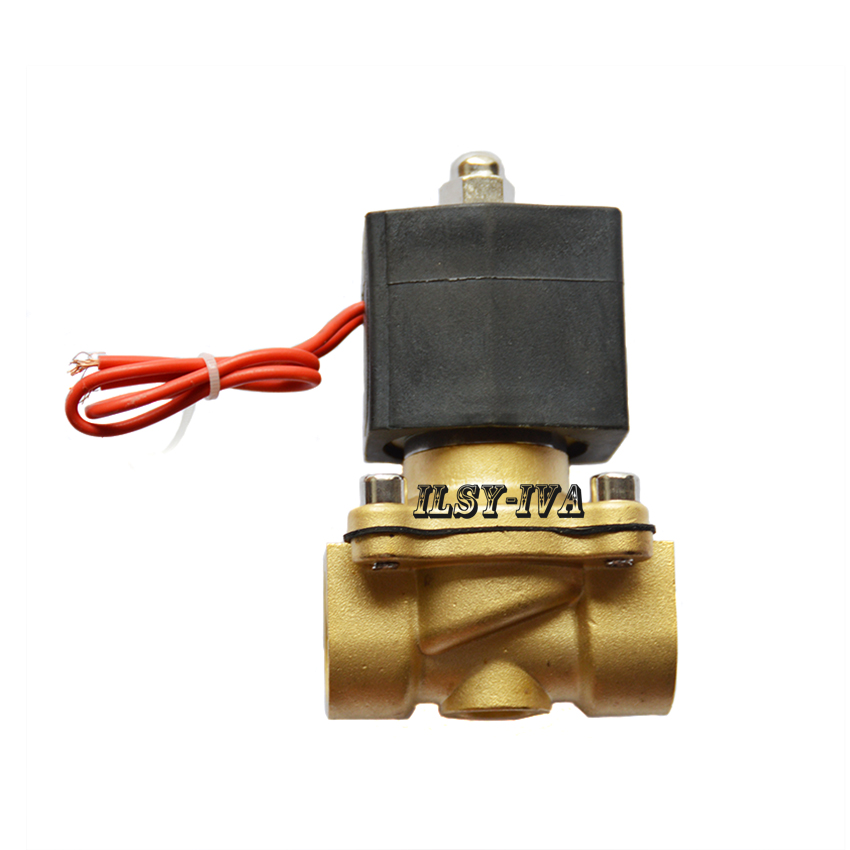 DN50 AC110V,AC220V two way brass Normally closed moisture-proof solenoid valve цена